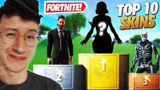 TOP 10 FORTNITE - SKINS SHOWING MY ACCOUNT
