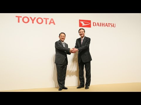 Joint Press Conference by Toyota Motor Corporation and Daiha