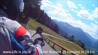 French Alps on BMW R1200GS motorbike motorcycle moto Telegraphe Galibier Alpe D'Huez L'Iseran