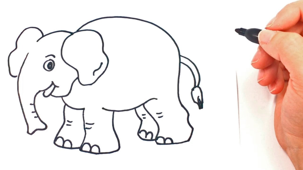 How to draw a Elephant | Elephant Drawing Lesson - YouTube