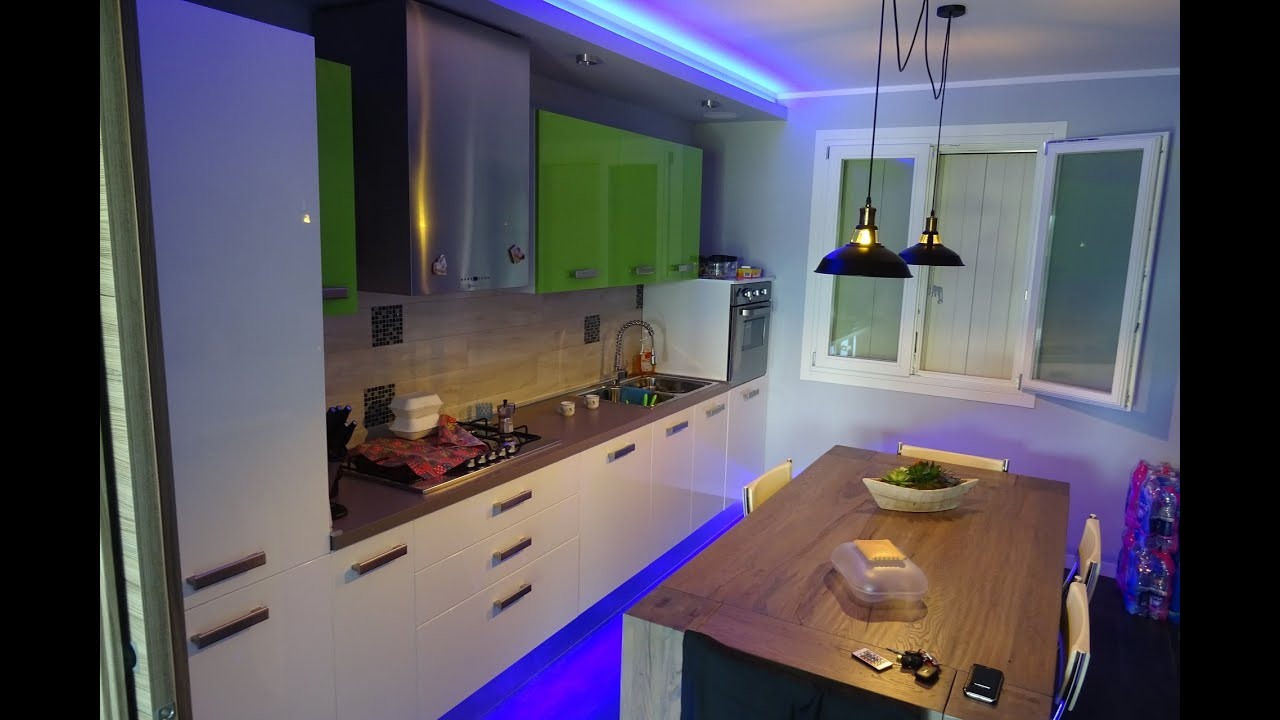 Dropped Ceiling Kitchen Kitchen False Ceiling With Leds Time Lapse Youtube