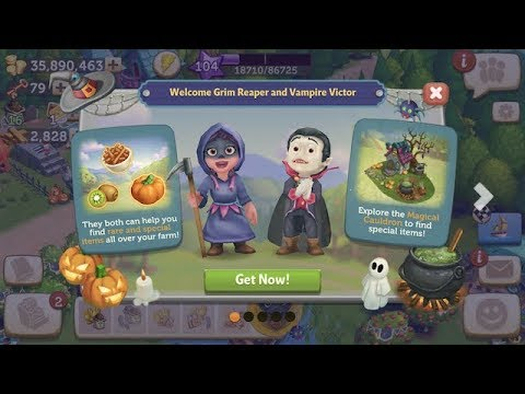 FarmVille 2 Country Escape👻🎃Haunted Halloween Playhouse👻🎃Day 1 IOS GamePlay