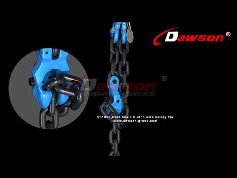 HOW TO USE CHINA DAWSON G100 FORGED CLEVIS CHAIN CLUTCH WITH SAFETY PIN FOR ADJUST CHAIN LENGTH