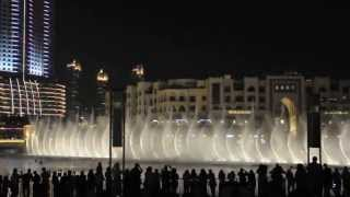 Burj Khalifa Fountain, Michael Jackson - Thriller