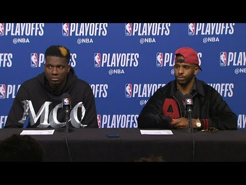 Chris Paul & Clint Capela Postgame Interview - Game 5 | Jazz vs Rockets | 2019 NBA Playoffs