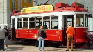 アキーラさん観察①ポルトガル・リスボンの市電(トラム)・コメルシオ広場!Tram,Comercio-square,Lisbon,Portugul