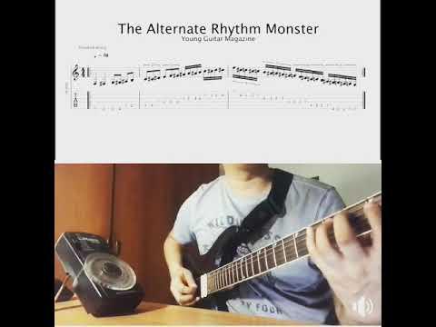 The Alternate Rhythm Monster (Guitar Rhythm Excercise)