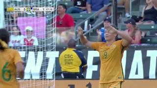 Australia vs. Brazil: Caitlin Foord Second Goal - Aug. 3, 2017