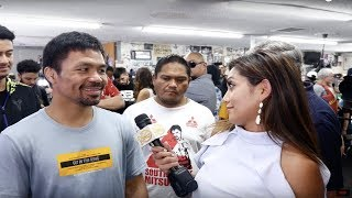 "Senator Manny Pacquiao's final message to Keith ""One Time"" Thurman: DO YOUR BEST!"
