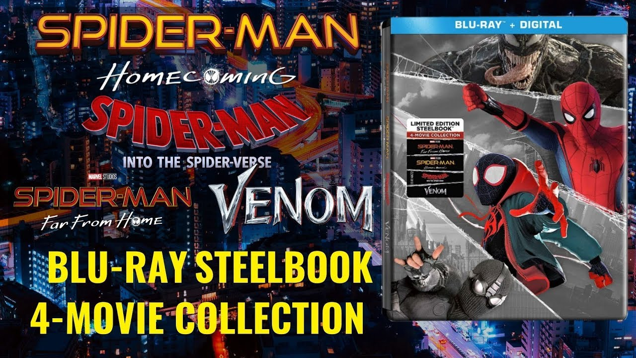 Spider-Man/ Venom Blu-ray 4-Movie Collection Steelbook Unboxing
