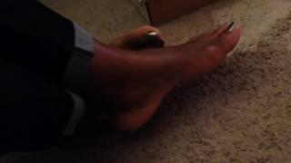 Green toes Candid mature ebony