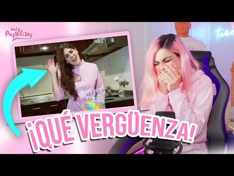 REACCIONANDO A MI PRIMER VIDEO | QUE VERGÜENZA | MIS PASTELITOS