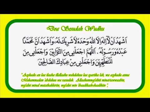 Doa Sesudah Wudhu Dan Artinya