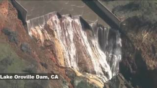 Oroville Spillway Damage Revealed | Lake Oroville Dam  | 2-27-17 - 3Min Clip