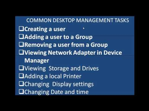 Desktop management common tasks