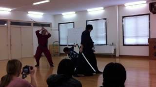 KyotoFilmmakersLab2011 殺陣講座風景、東映京都撮影所