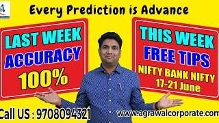 NIFTY NEXT WEEK ADVANCE PREDICTION(17-21 JUNE) | Stock Market | Technical Analysis | Mukul Agrawal thumbnail