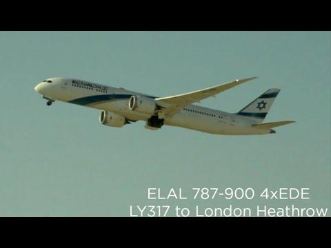 4 Minutes Of ELAL Israel Airlines Departing From Tel Aviv
