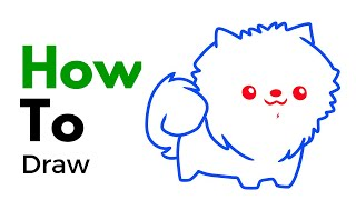 ABC Song for kids - How to draw  a pomeranian puppy