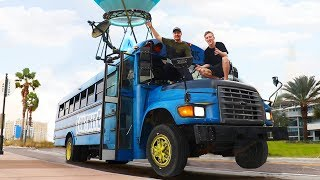 Download Surprising TFue With A Fortnite Battle Bus In Real Life Mp3 and Videos