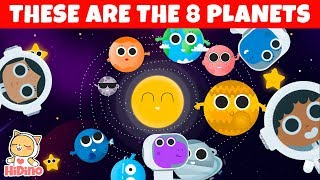 ???? The Planet Song ???? Learn the planets   Space song for children   HiDino Kids Songs