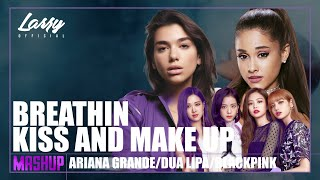 KISS AND BREATHIN (Lyric Video) - Ariana Grande, Dua Lipa, BLACKPINK