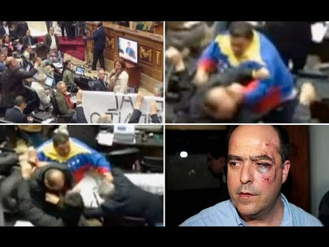 Punches fly in Venezuelan parliament brawl