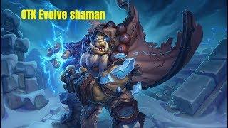 Hearthstone. OTK evolve shaman. Kobolds And Catacombs