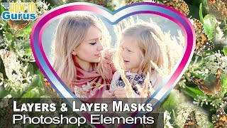 Photoshop Elements 2019 Layers and Layer Masks Butterfly Photo Frame