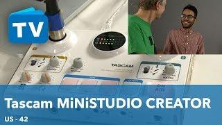 TASCAM Ministudio Creator US - 42 Interface für Podcaster und YouTuber