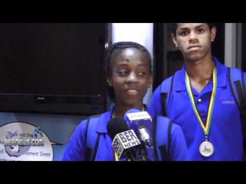 Kyrah Scraders Carifta Track and Field Team Returns Bermuda April 26 2011