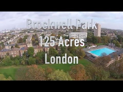 Brockwell Park Drone  London . Herne Hill, Dulwich,