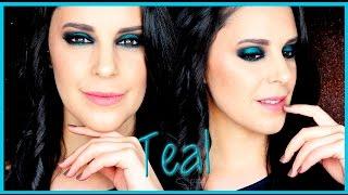 Teal smokey eye makeup tutorial | Silvia Quiros Makeup