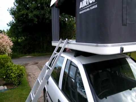 Setting up an Autohome Maggiolina Airtop Maggiolina Air Top Roof Top Tent RTT Rooftent - YouTube & Setting up an Autohome Maggiolina Airtop Maggiolina Air Top Roof ...