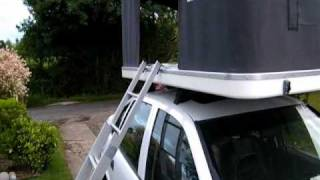 Setting up an Autohome Maggiolina Airtop Maggiolina Air Top Roof Top Tent RTT Rooftent