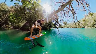 Foil Surfing on Flat Water | Hydrofoil pumping in Serre-Ponçon 🌲🏄‍♂️🌲