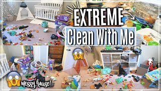 REAL LIFE EXTREME CLEAN WITH ME | ACTUAL MESSY HOUSE CLEANING MOTIVATION | SAHM