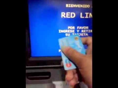 tutorial como extraer dinero del cajero automático consulta de saldo