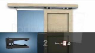 Do-it-yourself interior wood doors by Portamivia - sliding doors outside the wall