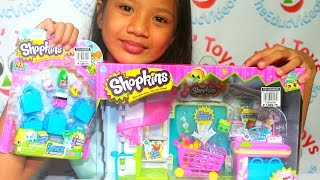 Shopkins Small Mart Let's Go Shopping Playset With Rare Shopkins