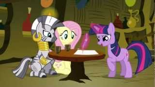 Fluttershy meets with Zecora and Twilight