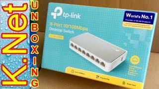 TPLink 8-Port 10/100Mbps Desktop Switch TL-SF1008D_ Unboxing _K.Net