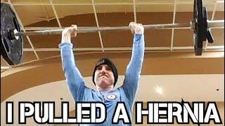 I PULLED A HERNIA :(