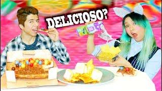 MEZCLAS RARAS DE COMIDA QUE LA GENTE AMA!! Probando recetas asquerosas!! | Palomitas Flow