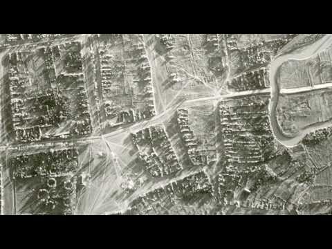 Фотография сделанная с самолета в 1943 году город Зеленокумск
