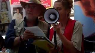 Javier Sicilia,Peace Caravan recites Bob Dylan's