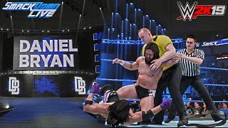 """WWE 2K19: The """"NEW"""" Daniel Bryan Heel Entrance Trons/GFX ft. AJ Styles (PC Mods)"""