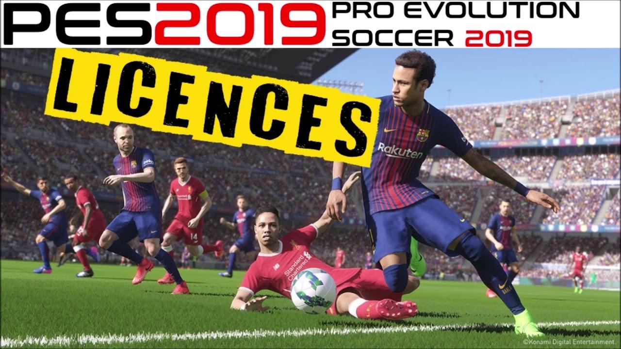PES 2019 LICENCES - FIFPro, Bundesliga, Brazilian, Premier League limit etc
