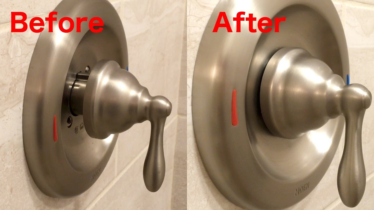 how to adjust a shower faucet that sticks out