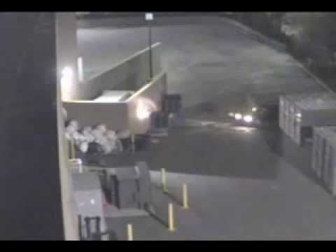 Haulaway Storage Containers Drunk woman runs into the side of